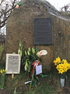 Memorial at the now demolished Frongoch internment camp