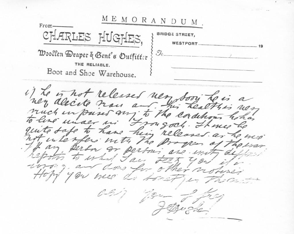 Letter from Mrs Jennie Hughes to the Home Secretary Mr. Herbert Samuel 2-2