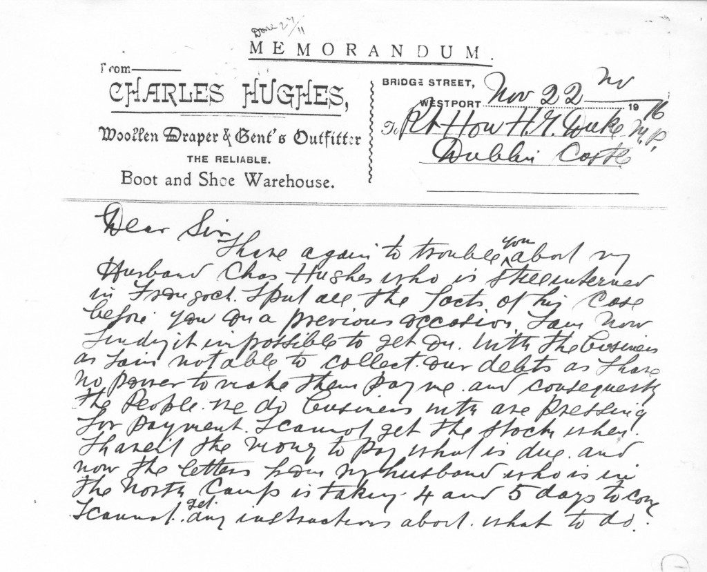 Letter from Mrs. Jennie Hughes to Rt. Hon. H. Duke M.P. 2-2