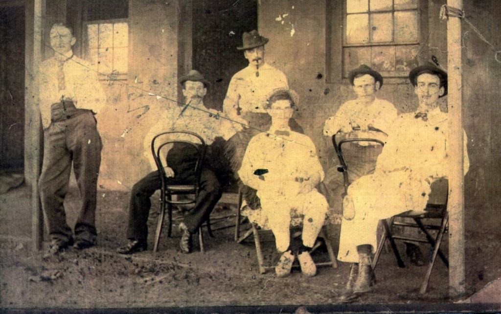 South Africa 1898. John MacBride seated on left. Arthur Griffith standing.