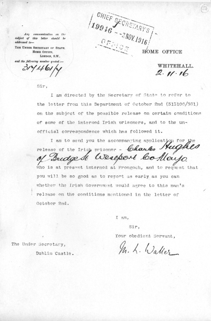 RIC Report - HO Letter re Charles Hughes