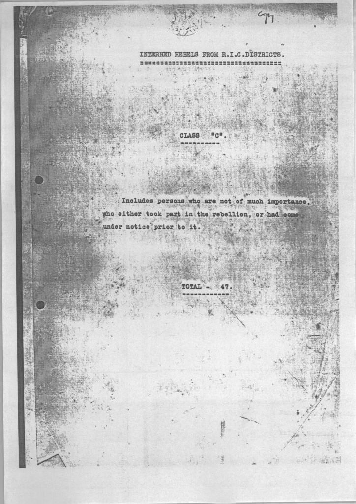RIC Report List of C Prisoners 1-5