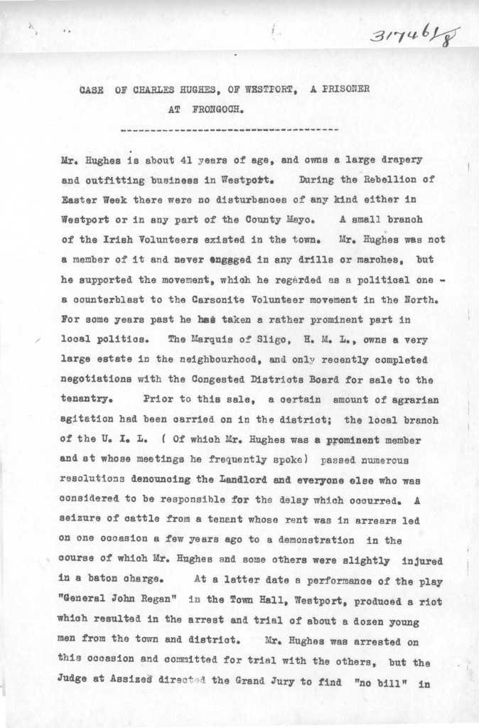 RIC Report on Charles Hughes 1-3