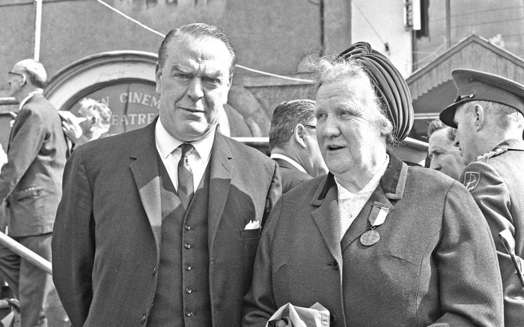 Patrick Lindsay T.D., S.C. and Julia Gillivan (Cumann na mBan) at the Golden Jubilee Commemorations. ©Liam Lyons Collection